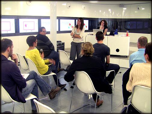 Taller de Diseño Social impartido en el Camon