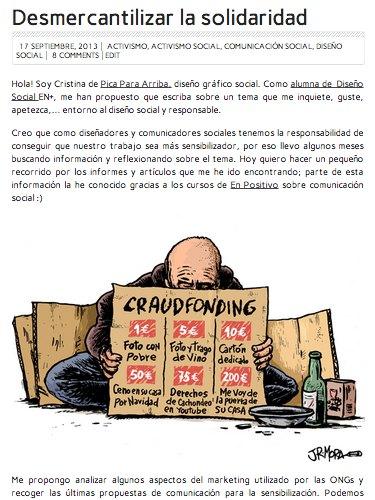 desmercantilizar la solidaridad viñeta crítica caridad