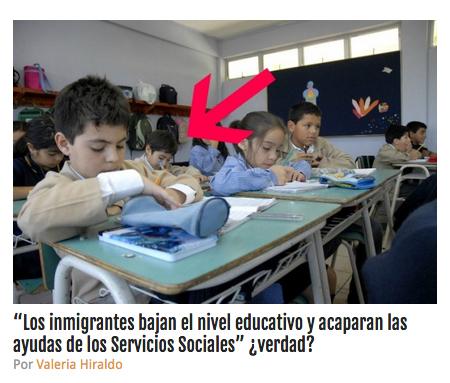 infografia inmigrantes escuela publica